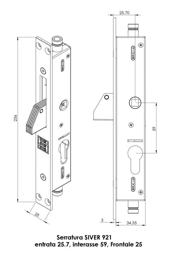 serratura 921 siver entrata 20 revisteel